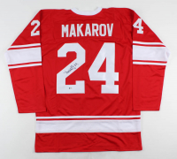 Sergei Makarov Signed Jersey (Beckett COA) at PristineAuction.com