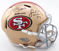 "Kwon Alexander & Fred Warner Signed 49ers Full-Size Speed Helmet Inscribed ""Hotboyzz"" (Beckett COA) at PristineAuction.com"