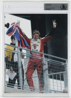 "Dan Wheldon Signed 8x10 Photo Inscribed ""2005"" (BGS Encapsulated) at PristineAuction.com"