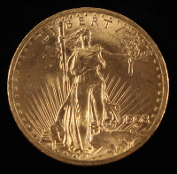 1908 $20 Twenty-Dollar Saint-Gaudens Double Eagle Gold Coin (No Motto) at PristineAuction.com