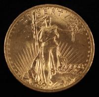 1908 $20 Twenty-Dollar Saint-Gaudens Double Eagle Gold Coin (No Motto) at PristineAuction.com