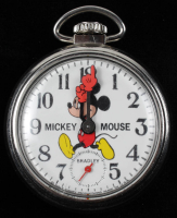 Mickey Mouse Vintage Wind-Up Fully Functioning Pocket Watch at PristineAuction.com