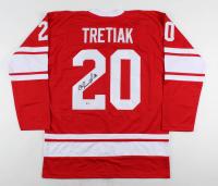 Vladislav Tretiak Signed Jersey (Beckett COA) at PristineAuction.com