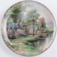 "Thomas Kinkade LE ""Hometown Lake"" Porcelain Plate at PristineAuction.com"