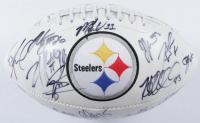 2013 Steelers Logo Football Team-Signed by (35) with Ben Roethlisberger, Troy Polamalu, Heath Miller, Antonio Brown, Brett Keisel (JSA ALOA) at PristineAuction.com