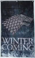 "Kit Harington Signed ""Game of Thrones"" 31x51 ""Winter is Coming"" Banner (Radtke COA) at PristineAuction.com"