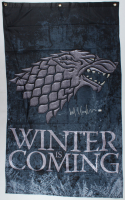 """Kit Harington Signed """"Game of Thrones"""" 31x51 """"Winter is Coming"""" Banner (Radtke COA) at PristineAuction.com"""