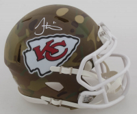 Tyreek Hill Signed Chiefs Camo Alternate Speed Mini Helmet (Beckett COA) at PristineAuction.com