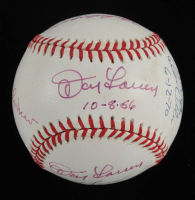 MLB Pitching Greats OAL Baseball Signed by (9) with Bob Feller, Bob Lemon, Dan Larson, Johnny Vander Meer with Multiple Inscriptions (JSA LOA) at PristineAuction.com