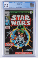 "1977 ""Star Wars"" Issue #1 Marvel Comic Book (CGC 7.5) at PristineAuction.com"