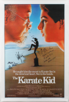 "Ralph Macchio, William Zabka & Martin Kove Signed ""The Karate Kid"" 27x40 Poster With Multiple Inscriptions (Radtke COA) at PristineAuction.com"