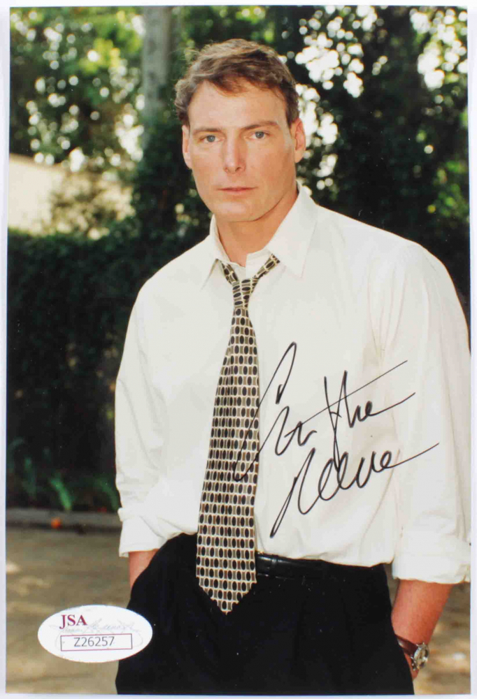 Christopher Reeve Signed 4.5x6 Photo (JSA Hologram) at PristineAuction.com