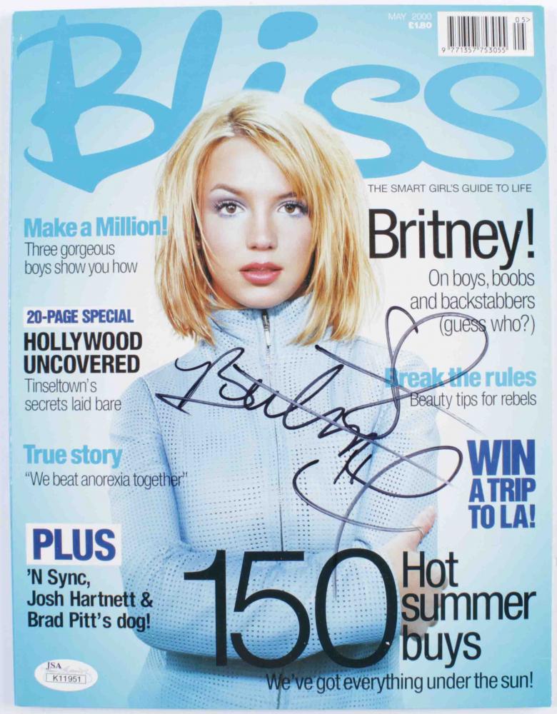 Britney Spears Signed 2000 Bliss Magazine (JSA Hologram) at PristineAuction.com