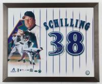 Curt Schilling Signed LE Diamondbacks 18x22 Custom Framed Photo Display (MLB Hologram & Schwartz Sports Hologram) at PristineAuction.com