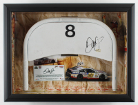 Dale Earnhardt Jr. Signed 17x23x4 Original #8 Daytona International Speedway Seat Back Shadowbox Display (Dale Jr. Hologram & COA, Fanatics COA, & PA COA) at PristineAuction.com