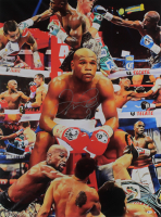 Floyd Mayweather Signed 30x40.5 Stretched Print On Canvas (Beckett COA) at PristineAuction.com