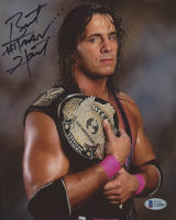 "Bret ""Hitman"" Hart Signed 8x10 Photo (Beckett COA) at PristineAuction.com"