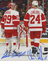Chris Chelios & Dominik Hasek Signed Red Wings 8x10 Photo (COJO COA) at PristineAuction.com
