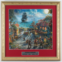 "Thomas Kinkade Walt Disney's ""Pirates of the Caribbean"" 16x16 Custom Framed Print Display at PristineAuction.com"