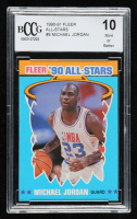 Michael Jordan 1990-91 Fleer All-Stars #5 (BCCG 10) at PristineAuction.com