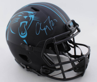 Christian McCaffrey Signed Panthers Full-Size Authentic On-Field Eclipse Alternate Speed Helmet (Beckett COA) at PristineAuction.com