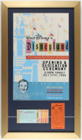 Disneyland 15x26 Custom Framed Print Display with Vintage Ticket Booklet & .25 Parking Ticket at PristineAuction.com