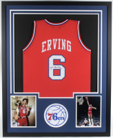 Julius Erving Signed 34x42 Custom Framed Jersey (JSA COA) at PristineAuction.com