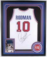 Dennis Rodman Signed 34x42 Custom Framed Jersey (JSA COA) at PristineAuction.com