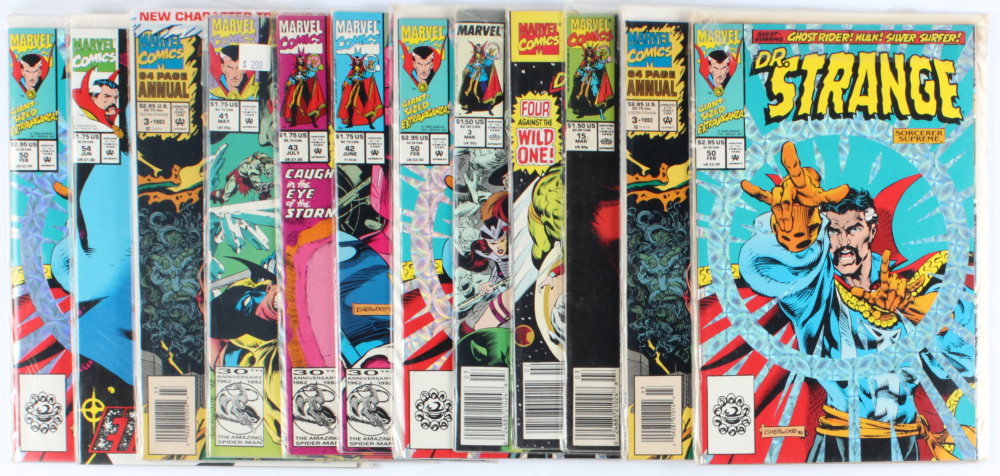 Lot of (12) Dr. Strange Marvel Comic Books Issues Ranging from #2 - #54 at PristineAuction.com