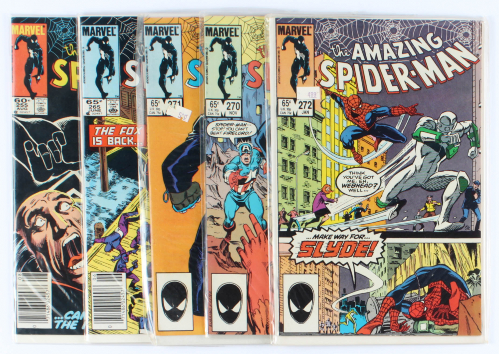 Lot of (5) Amazing Spider-Man Marvel Comic Books Issues Ranging from #255 - #272 at PristineAuction.com