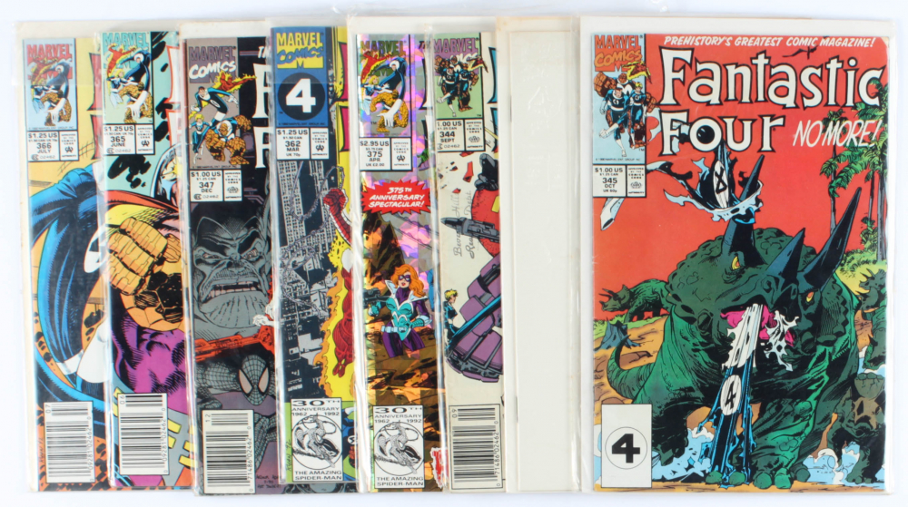 Lot of (8) Fantastic Four Marvel Comic Books Issues Ranging from #344 - #375 at PristineAuction.com