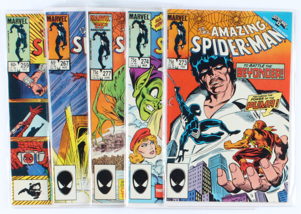 Lot of (5) Amazing Spider-Man Marvel Comic Books Issues Ranging from #259 - #277 at PristineAuction.com