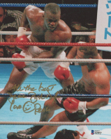 "James ""Buster"" Douglas Signed 8x10 Photo Inscribed ""All The Best"", ""Love"" & ""Peace"" (Beckett COA) at PristineAuction.com"