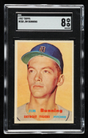 Jim Bunning 1957 Topps #338 RC (SGC 8) at PristineAuction.com