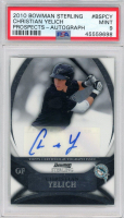 Christian Yelich 2010 Bowman Sterling Prospect Autographs #CY (PSA 9) at PristineAuction.com