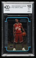 LeBron James 2003-04 Bowman Chrome #123 RC (BCCG 10) at PristineAuction.com