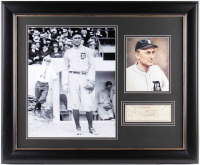Ty Cobb Signed Tigers 29x35 Custom Framed Check Display (JSA ALOA) at PristineAuction.com