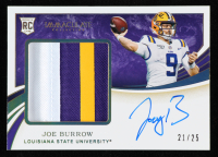 Joe Burrow 2020 Immaculate Collection Collegiate Rookie Patch Autographs Gold #102 at PristineAuction.com