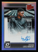 Luis Robert 2018 Donruss Optic Rated Prospects Signatures Carolina Blue #10 at PristineAuction.com