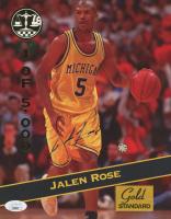 Jalen Rose Signed 1994 Signature Rookies #20 (JSA COA) at PristineAuction.com