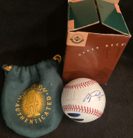 Michael Jordan & Tiger Woods Signed OML Baseball (UDA COA) at PristineAuction.com