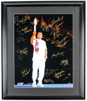 Olympic Greats Multi-Signed 22x26 Custom Framed Photo Display with (15) including Sheryl Swoopes, Dominique Moceanu, Mark Spitz (JSA ALOA) at PristineAuction.com