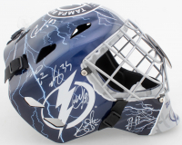 2019-20 Lightning Full-Size Goalie Mask Team-Signed by (13) with Erik Cernak, Victor Hedman, Blake Coleman (JSA ALOA) at PristineAuction.com