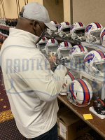 Thurman Thomas Signed Bills Full-Size Authentic On-Field Speed Helmet (Radtke COA) at PristineAuction.com