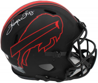 Thurman Thomas Signed Bills Full-Size Authentic On-Field Eclipse Alternate Speed Helmet (Radtke COA) at PristineAuction.com
