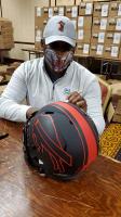 Thurman Thomas Signed Bills Full-Size Authentic On-Field Eclipse Alternate Speed Helmet (Radtke COA) at PristineAuction.com