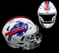 Jim Kelly, Thurman Thomas & Andre Reed Signed Bills Full-Size Authentic On-Field SpeedFlex Helmet (Radtke COA) at PristineAuction.com