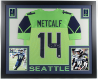 D. K. Metcalf Signed 35x43 Custom Framed Jersey (Beckett COA) at PristineAuction.com