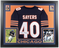 Gale Sayers Signed 35x43 Custom Framed Jersey Display (Beckett COA) at PristineAuction.com