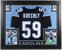 Luke Kuechly Signed 35x43 Custom Framed Jersey (Beckett COA) at PristineAuction.com